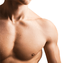 Male torso with defined chest